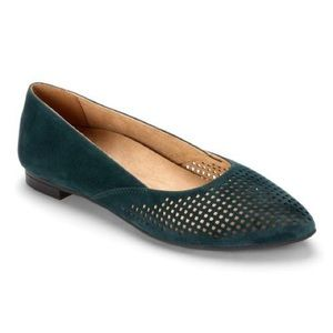 Vionic Gem Posey teal suede pointed toe flats 8.5